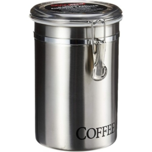 """Oggi 60-Ounce Brushed Stainless Steel """"Coffee"""" Airtight Canister"""