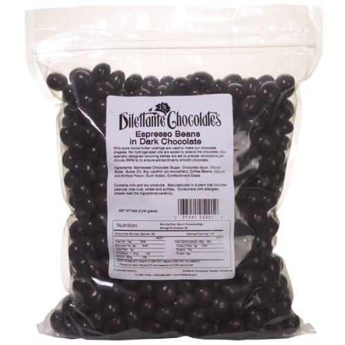 Dark Chocolate Espresso Beans - 5lb Bulk Bag - Dilettante
